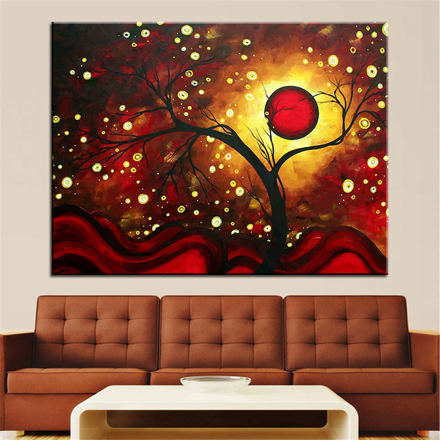 Large Size Printing Oil Painting Glowing Orb Wall Painting Wall Art  Decoration Picture For Living Room