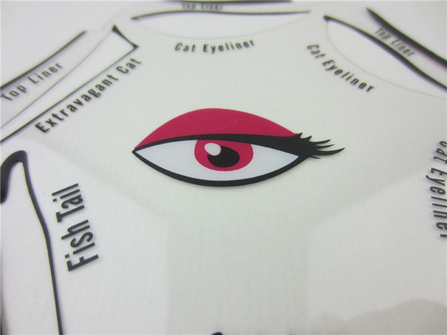 6 in 1 Stencils Eyeliner Template Smoky Makeup Guide Cat Eye Liner Quick Tool Hot Sale New 2