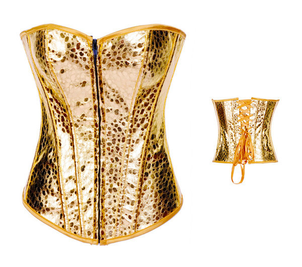 Sexy Lingerie Sequins Corset Waist Trainer Overbust Babydoll G-string Women Steampunk Party Sexy Corselet Nightwear Plus Size