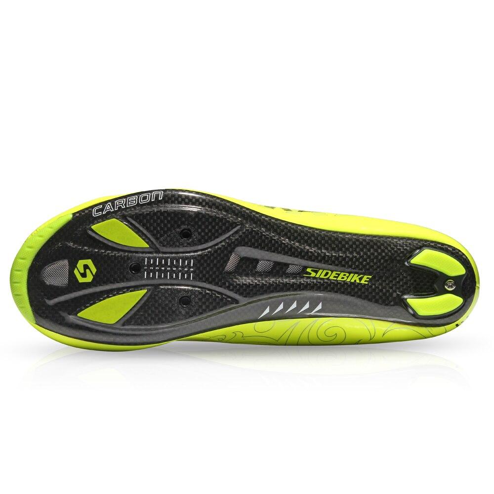 Chaussures hommes et femmes de vélo auto verrouillage route et VTT carbone chaussures tour de france jaune fluo cyclisme chaussures