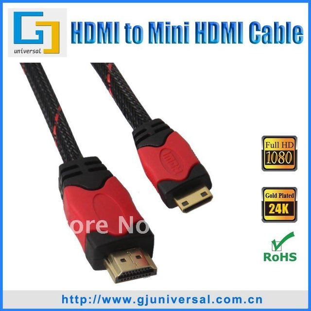 Free Shipping 5M 16FT HDMI Type A to C Cable 1.3V, Mini HDMI Cable, 1080P For HDTV Camera DV DC, HDMI059-5