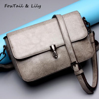 FoxTail Lily Genuine Leather Women Clutch Bag Famous Brand Designer Mini Shoulder Messenger Bag Female Small