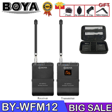 BOYA BY-WFM12 Wireless Microphone VHFMic System for iPhone Sony Canon DSLR Camcorder Audio Recorder PK WM4 BY-WM4 цены онлайн