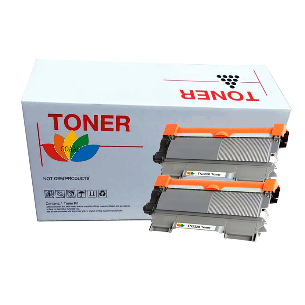 Подробнее о 2x Laser Toner Cartridge for Compatible Brother TN2220 MFC-7360N MFC-7460DN MFC-7860DW Printer compatible brother tn450 tn420 toner cartridge for brother dcp 7065dn toner for brother dcp 7060d mfc 7360 7460dn 7860dw toner