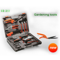Professional household Gardening tools bonsai branch shears scissors spatula set tool repair kit 14pcs