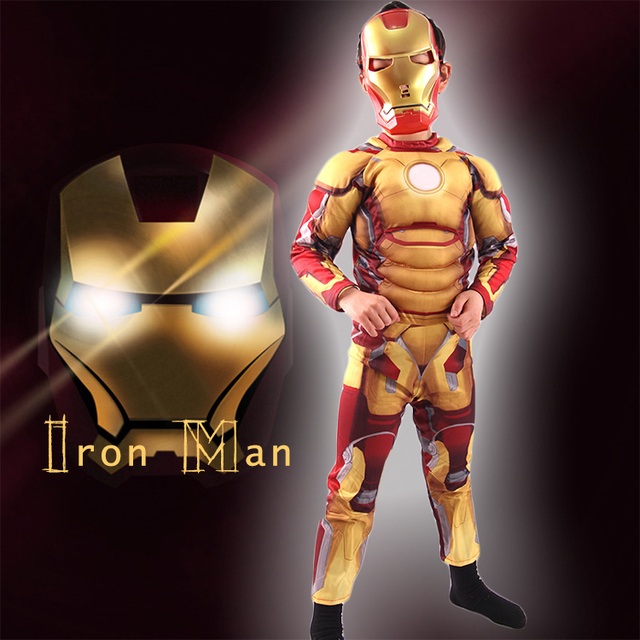 Iron Man Mark 42 Costume with Muscles For Kids Child Cosplay Halloween Marvel (3 Designs) 5