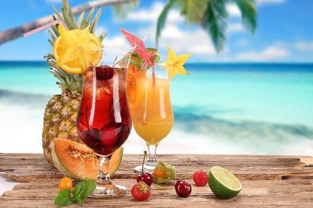 jugos de frutas y frutas de verano estilo pinturas cuadros modulares paneles de pared decoracin nrdica