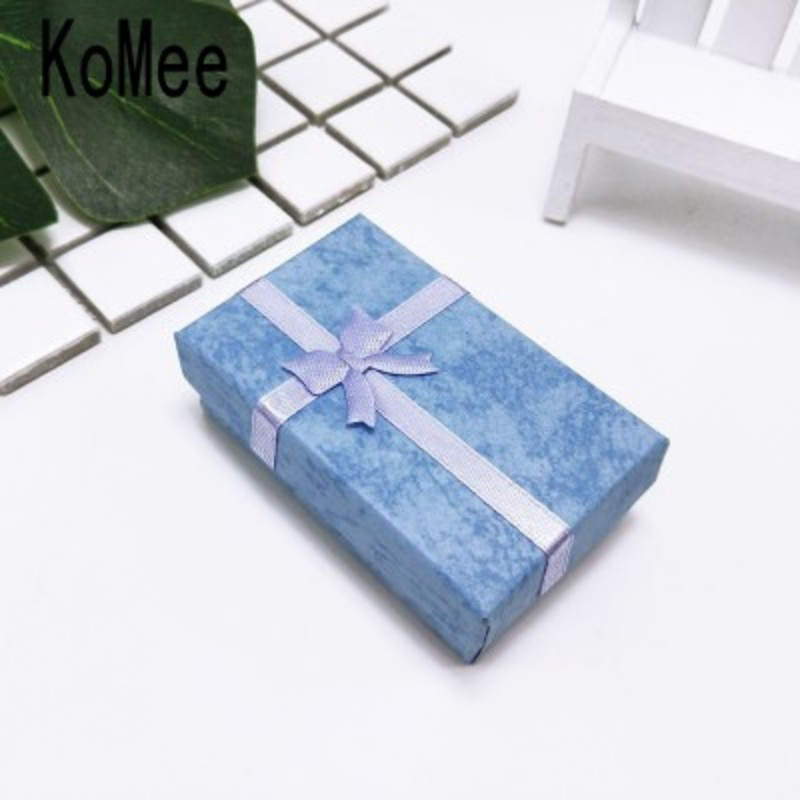 Jewelry Box 24pcs 5x8x2.5cm violet Paper Gift Box for Earring Necklace Jewelery Packaging & Display Rectangle Shape Boxes