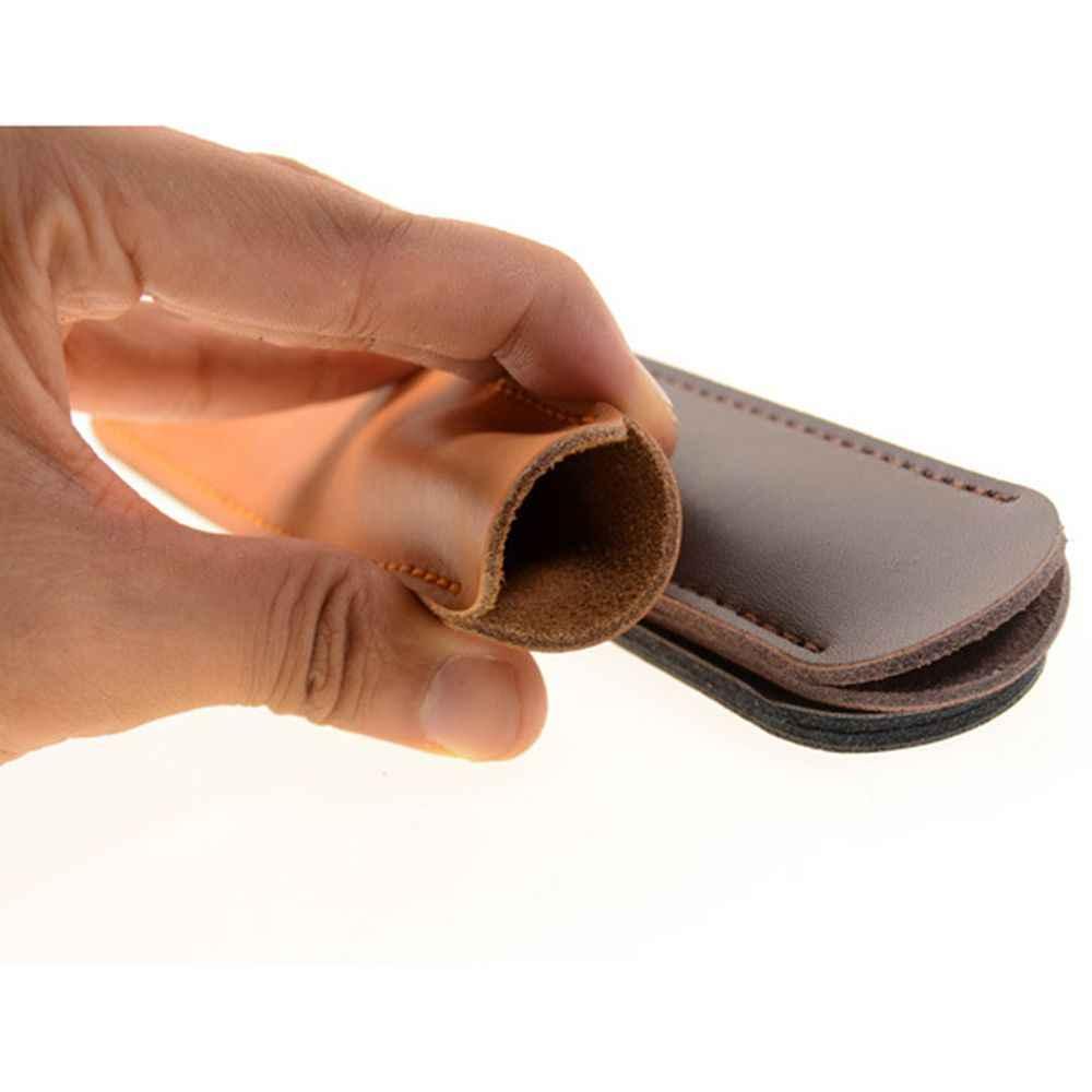 1 قطعة قلم حبر حافظة قلم حبر الحقيبة رئيس طبقة جلد Cowhid يدويا واحد حقيبة أقلام رصاص حامل تخزين كم الحقيبة