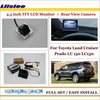 Liislee For Toyota Land Cruiser Prado LC150 2010~2014 Car Reverse Rear Camera + 4.3 TFT LCD Monitor = 2 in 1 Parking System