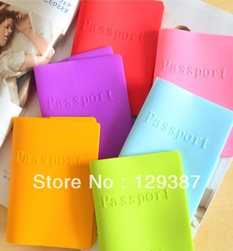 2013 zakka travel kit candy color Silicone dust and water resistant passport holder  passport cover passport case