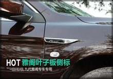 High quality ABS chrome 2pcs Front fender side mark adornment car body side mark side lamp