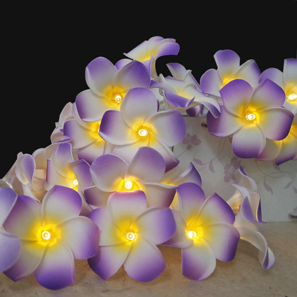 Handmade Hawaii flower string leds, AA Battery holiday led lighting, Event and Parties garland decoration,wedding decorative led