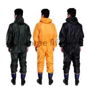 Image 3 - ファッションオートバイレインコート防水 · 耐油/防塵/シャムレインコート/オーバーオール核分裂レインスーツレインコート