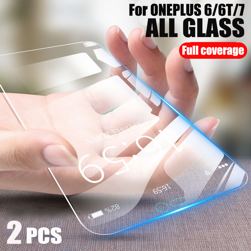 Screen Protector Glass For ONEPLUS 7 Full Covered Tempered Glass For Oneplus 6T 7 Explosion proof