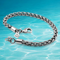 Free shipping 925 sterling silver men's bracelet personalized retro Thai silver bracelet woven men husband boyfriend gift