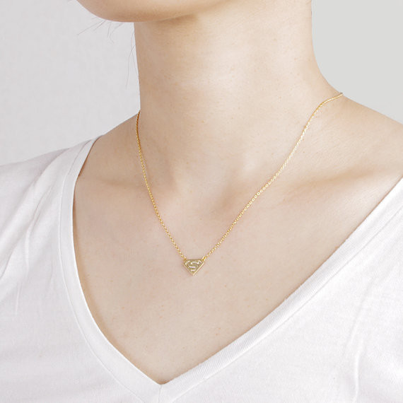 2014-Fashion-18k-Gold-Silver-Super-S-Logo-Necklace-Free-Shipping (2)