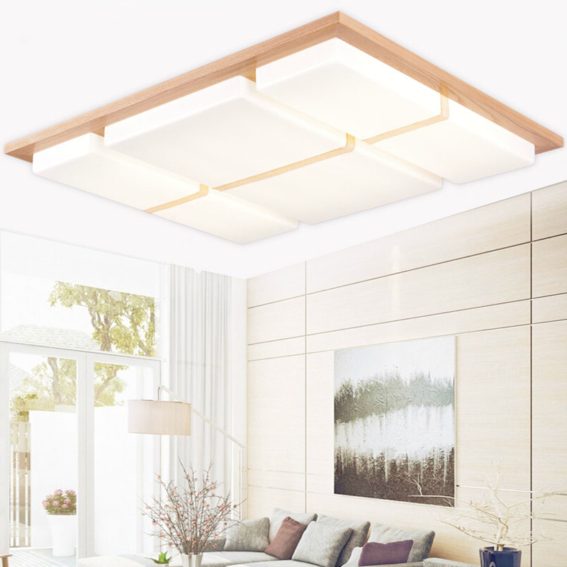 Wooden Modern led ceiling lights for living room bedroom luminaria de teto home decoration led ceiling lamp fixtures luminaire noosion modern led ceiling lamp for bedroom room black and white color with crystal plafon techo iluminacion lustre de plafond