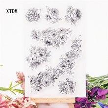 Venda quente grinalda selo claro/selo de silicone flor selo álbum de scrapbook diy/cartão produção