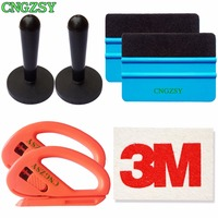 Wrap Magnet Holders Vinyl Cutter Plastic Soft Wool Squeegee Auto Window Clean Wiper Car Tinting Tool