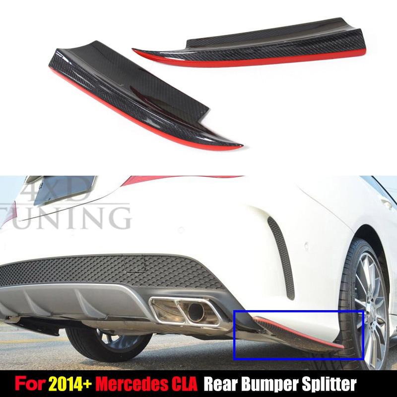 For Mercedes CLA Class Rear Splitter W117 C117 CLA250 CLA260 CLA45 AMG Carbon Fiber Rear Bumper Splitter PRE Lci 2014 2015 2016
