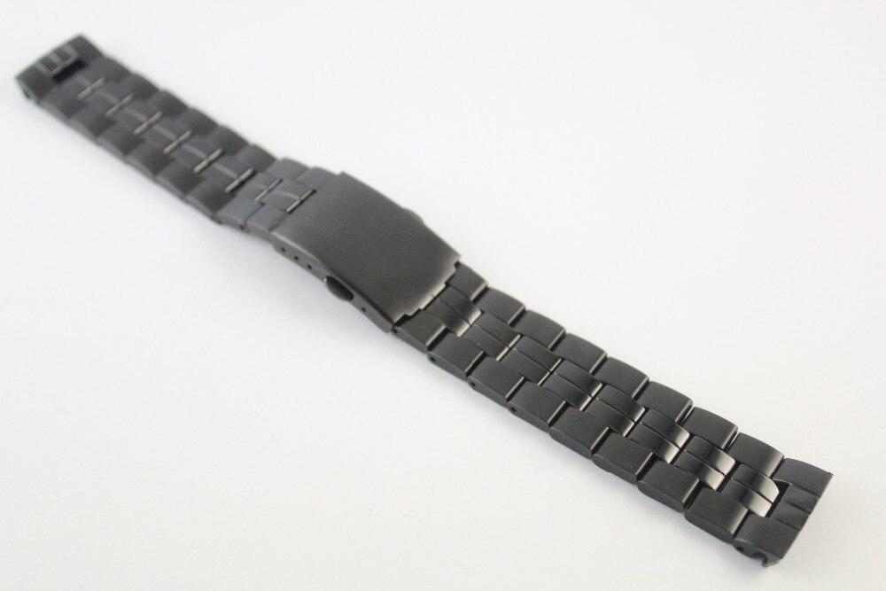 19mm T049417A T049407 T049410 modèles masculins bracelet de montre bande en acier inoxydable noir pour T049