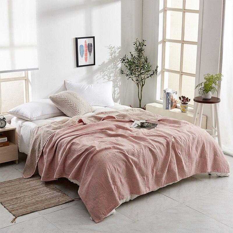 ZDFURS * doux confortable 100% coton mousseline couverture adulte enfants bambin été couette lit couverture Twin 150x200 cm complet 200x230 cm - 6