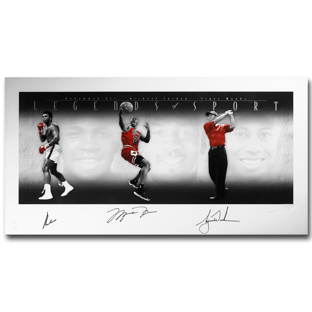 Nicoleshenting Store NICOLESHENTING Michael Jordan Muhammed Ali Art Silk Fabric Poster Print Sports Picture for Room Wall Decoration 061