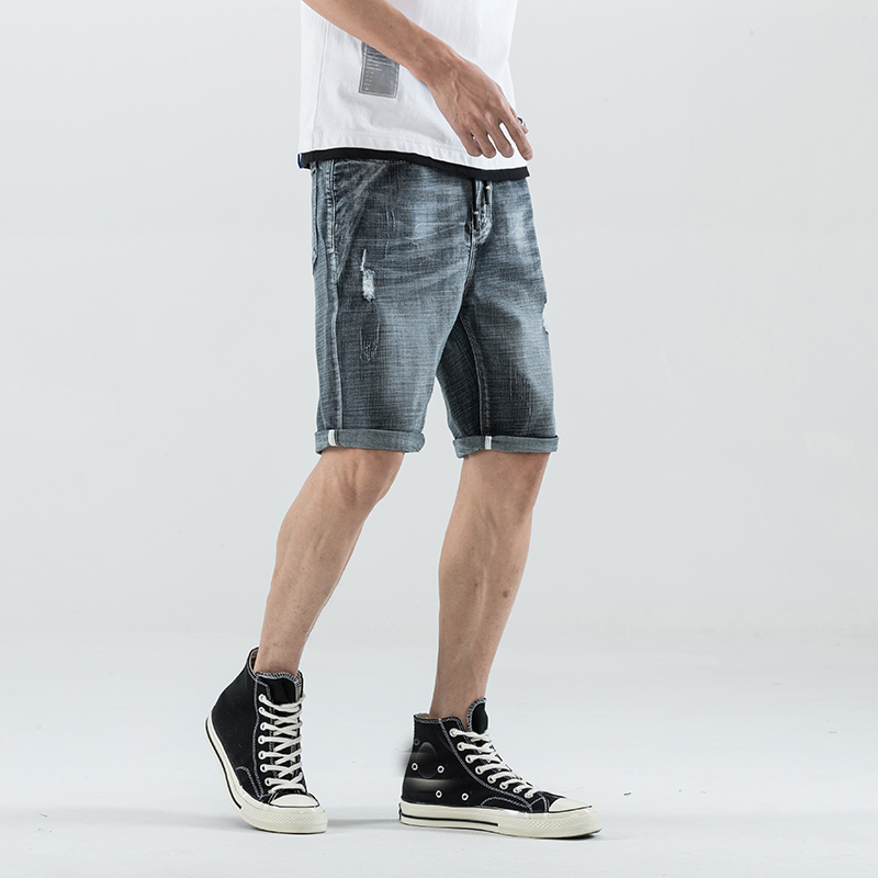 Summer Stretch Thin high quality cotton Denim Jeans male Short Men black Soft fashion casual Shorts Pants Plus Size 28 36 in Jeans from Men 39 s Clothing