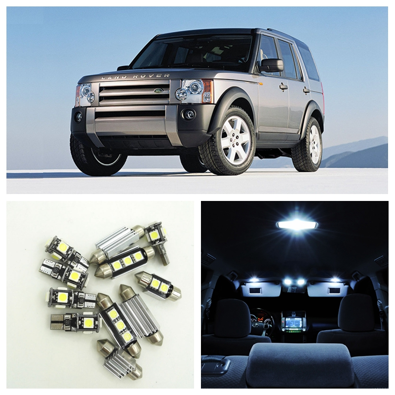 INTERIOR CAR LED LIGHT BULBS KIT XENON WHITE LAND ROVER DISCOVERY 3