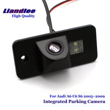 цены Liandlee Car Rear View Backup Parking Camera For Audi A6 C6 S6 2005~2009 Rearview Reverse Camera / Integrated SONY CCD HD