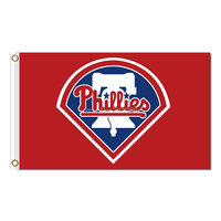 RED BLUE Philadelphia Phillies Flag Baseball World Series Champions Super Fans Team Flags Banner 3x5 Ft