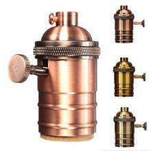 ¡Gran oferta! Vintage E26 E27 lámpara colgante de aluminio bombilla titular interruptor rosca Edison casquillo