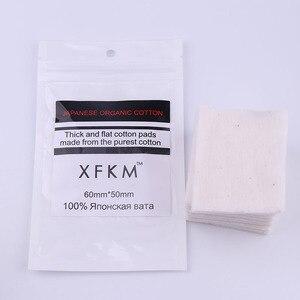 Image 2 - 180 יח\אריזה אורגני כותנה יפנית עבור RDA RBA מרסס סיגריה אלקטרונית DIY XFKM סליל סלילי חוט חום טהור אורגני כותנה