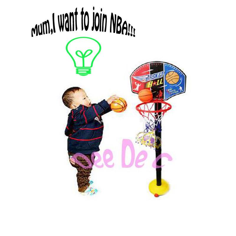 ручка тип дети баскетбол стоит, дети внутренний и на открытом воздухе спорт игрушки, с милой коробки