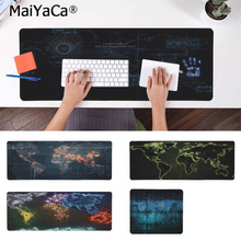 MaiYaCa New Printed World Map Natural Rubber Gaming mousepad Desk Mat PC Computer