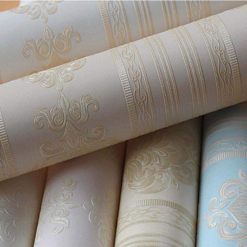Style européen élégant fonds d'écran pour salon chambre fond non-tissé papier peint rouleaux décor à la maison