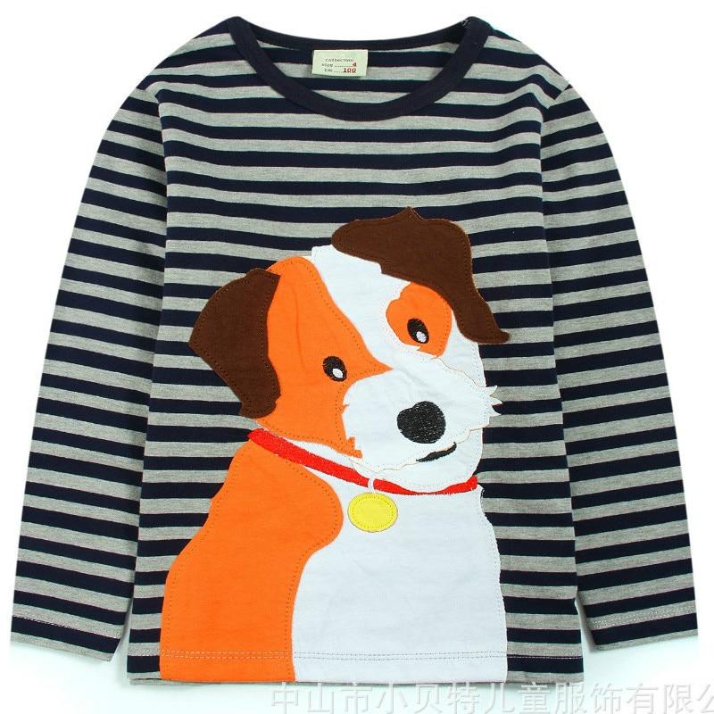 Демисезонный футболка с длинными рукавами в полоску для мальчиков Рубашки  детские топы От 2 до 7 лет Детская одежда Детские хлопковые футболки оптом  и в ... 8983bc9c5c4e1