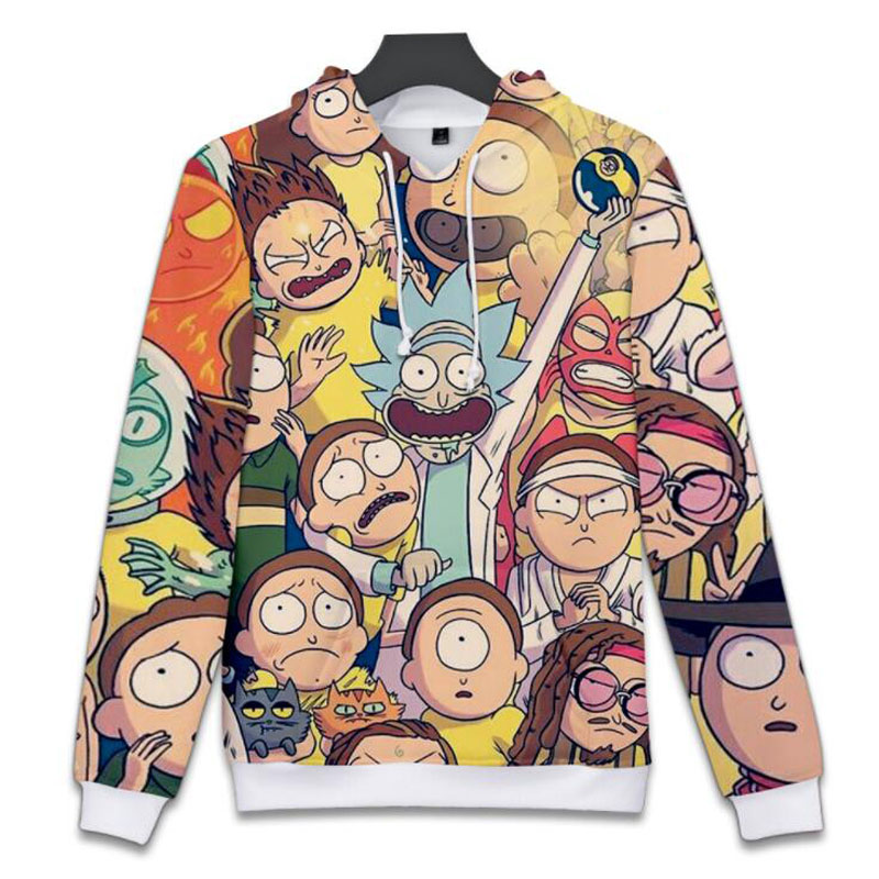Moletom Anime rick and morty Oversized Hoodie Cute Cartoon rick y morty 3D Printed Women/Men Hoody Streetwear Hooded Sweatshirts