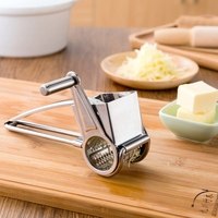 Manual Stainless Steel Rotary Cheese Grater Fondue Chocolate Cutter Tool
