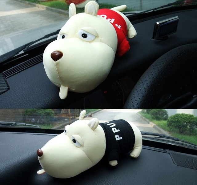Free Shipping 2pcs/Lot Car Air Fresher Cleaner Adsorb Odor Adjust Humidity Cartoon Odor Bamboo Charcoal Bag Long Mouth Dog