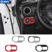 MOPAI Car Headlight Lamp Switch Button Decoration Cover Stickers for Jeep Wrangler JL 2018 Up Car Accessories Styling(China)