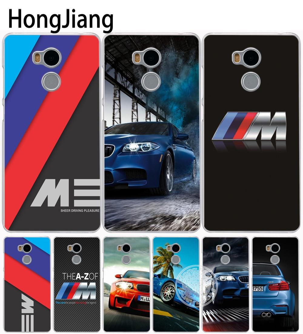 HongJiang luxury font b bmw b font M3 photo print Cover phone Case for Xiaomi redmi
