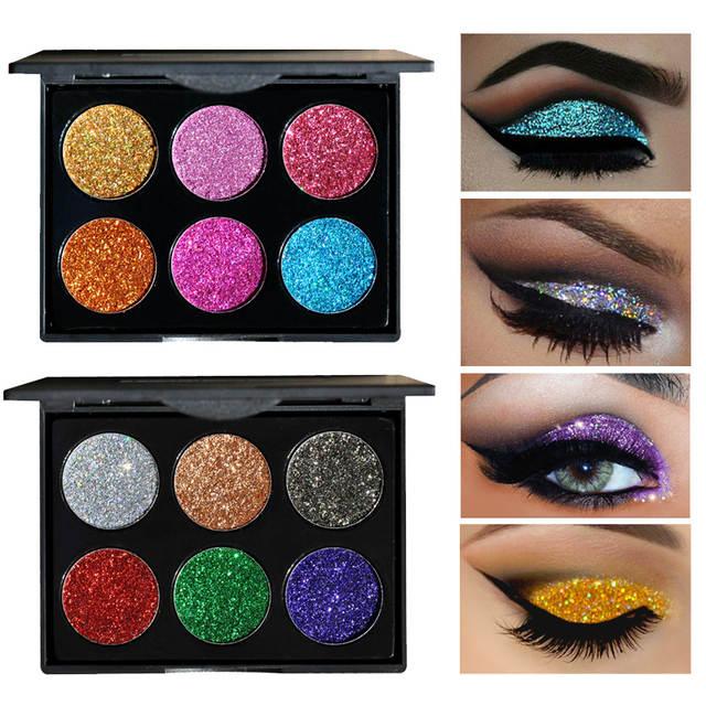 placeholder 2018 Makeup 6 Colors Waterproof Glitter Eyeshadow Palette  Shining Metals Powder Shimmer Eye Shadow Pigments Kits 64aeafb380d1