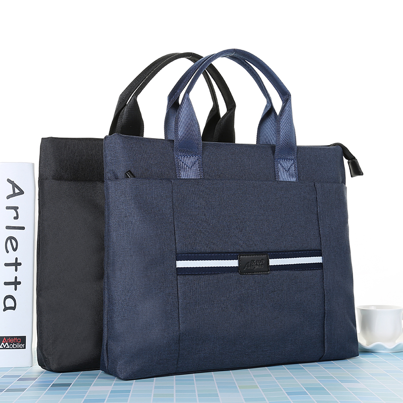 MIRUI Document Bag Portable A4 Multi layer Canvas Zipper Filling Product High capacity Office Business Briefcase File Folder
