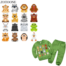 ZOTOONE 16Pcs Cartoon Animal Patch Iron on Patches for Clothing Diy Child T-shirt Thermal Transfer Stickers Heat Press E