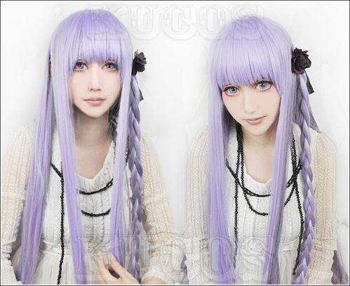Danganronpa Dangan-Ronpa 2 kyoko/Kyouko Kirigiri Cosplay Wigs Cap Hairnet  Gift Free Shipping