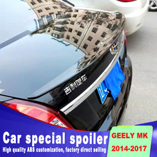 цена на For Geely jingang MK 2014 2015 2016 2017 rear trunk wing spoiler by primer or DIY color paint geely MK ABS material spoiler