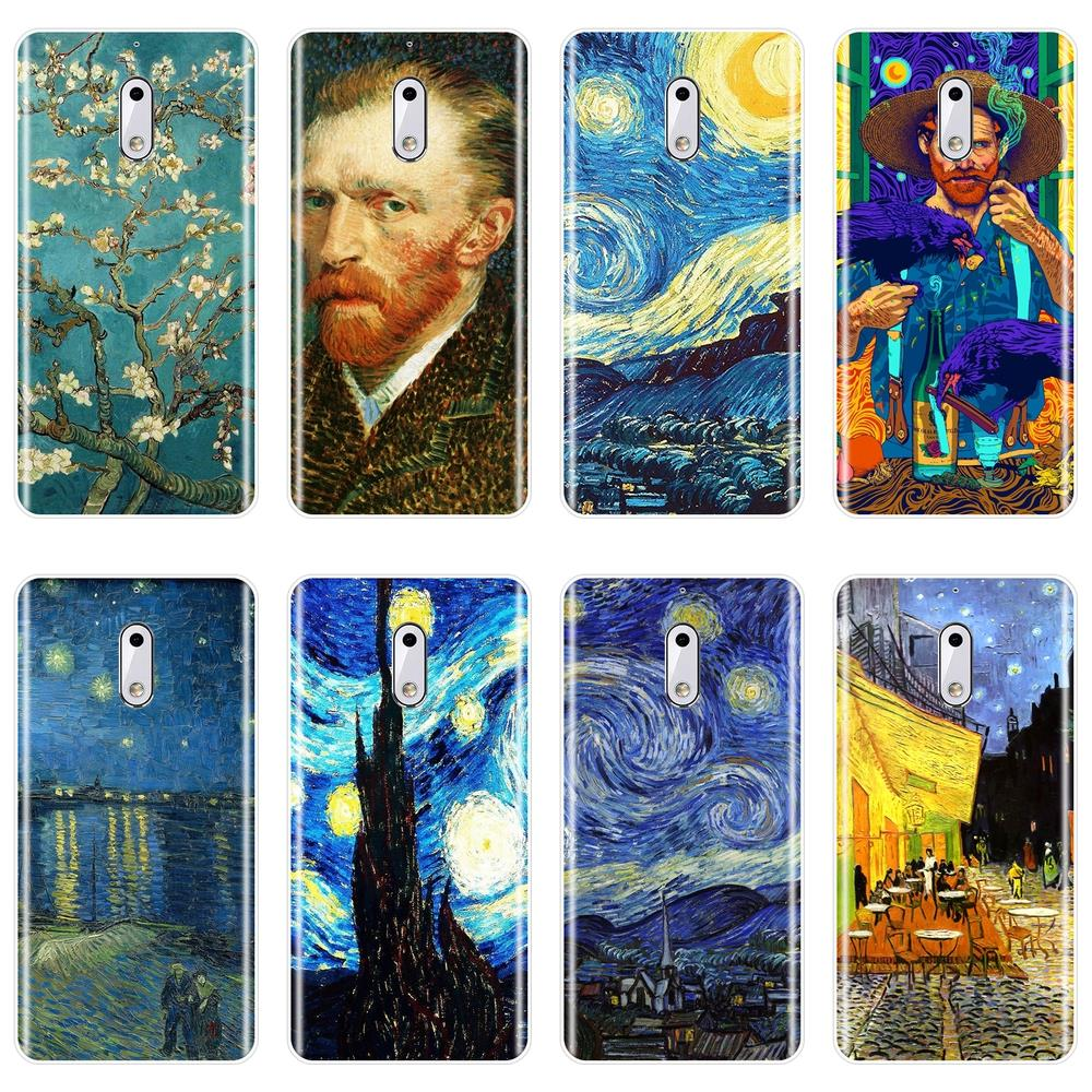 Van Gogh Painting Soft Phone Case For <font><b>Nokia</b></font> 7 Plus X6 Nokia2 Nokia3 Nokia5 Nokia6 Silicone <font><b>Back</b></font> <font><b>Cover</b></font> For <font><b>Nokia</b></font> <font><b>8</b></font> 6 5 3 2 1 image