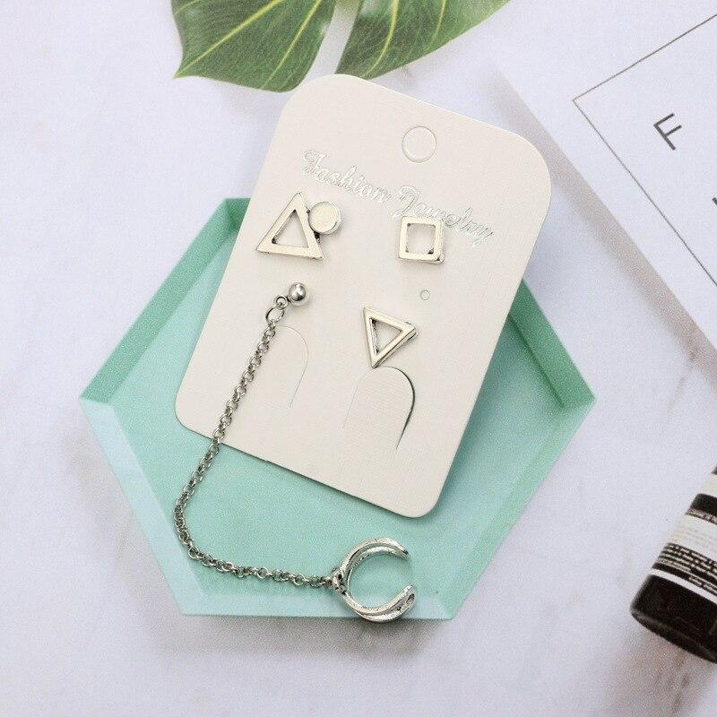 Women Geometric Figure Bohemian Earring Drop Dangle Earrings for Women Boucle Jewelry Dazzling Cubic Zirconia Opal Brincos in Drop Earrings from Jewelry Accessories